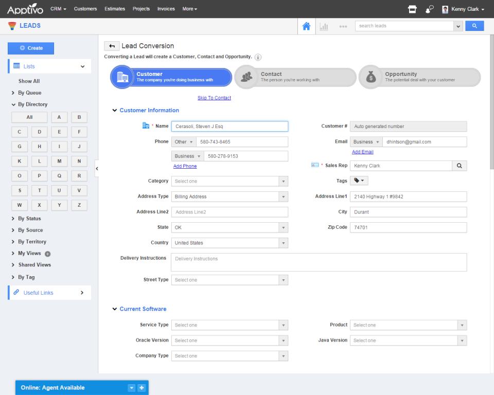 Apptivo CRM-screenshot-3