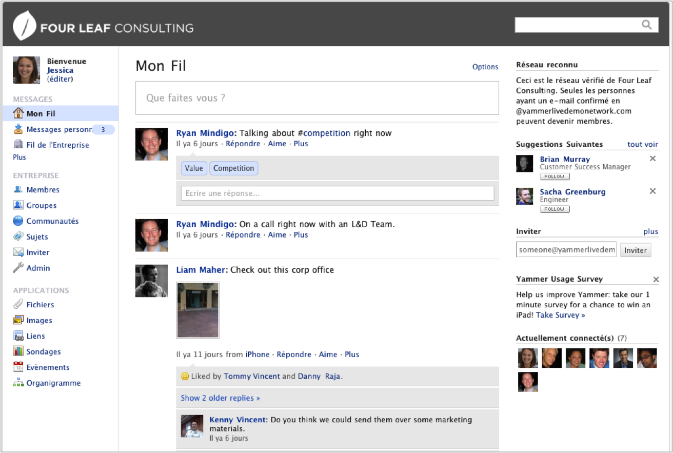Yammer: Conversations and posts, Task Manager, Publishing and Sharing Content