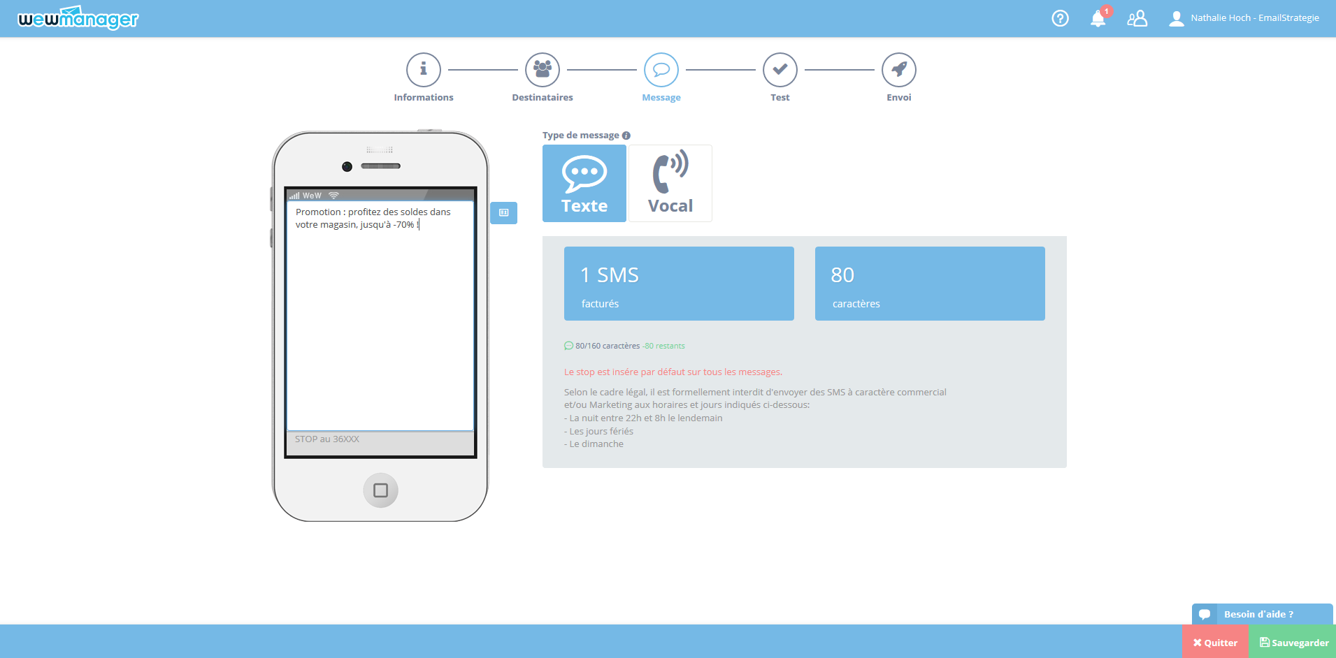wewmanager: SMS Campaigns Management, Overview Real-time, SMS Text or Voice