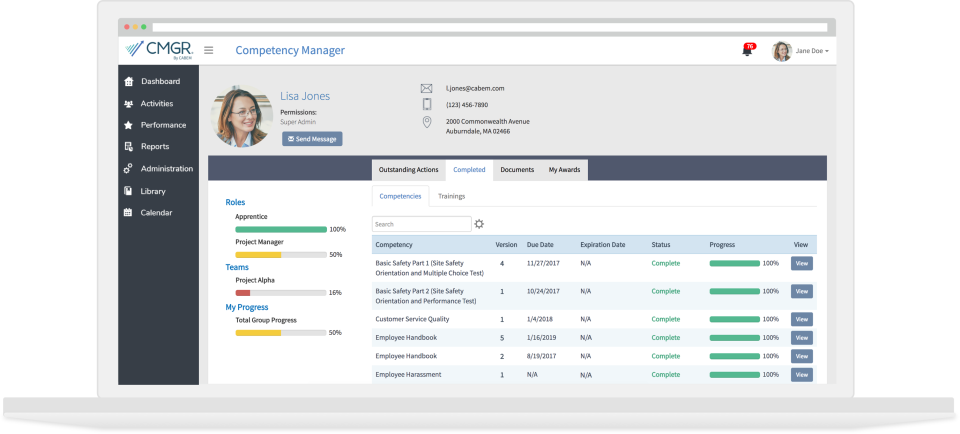 Review Competency Manager: A Competency Management System for Your Most Important Asset - Appvizer