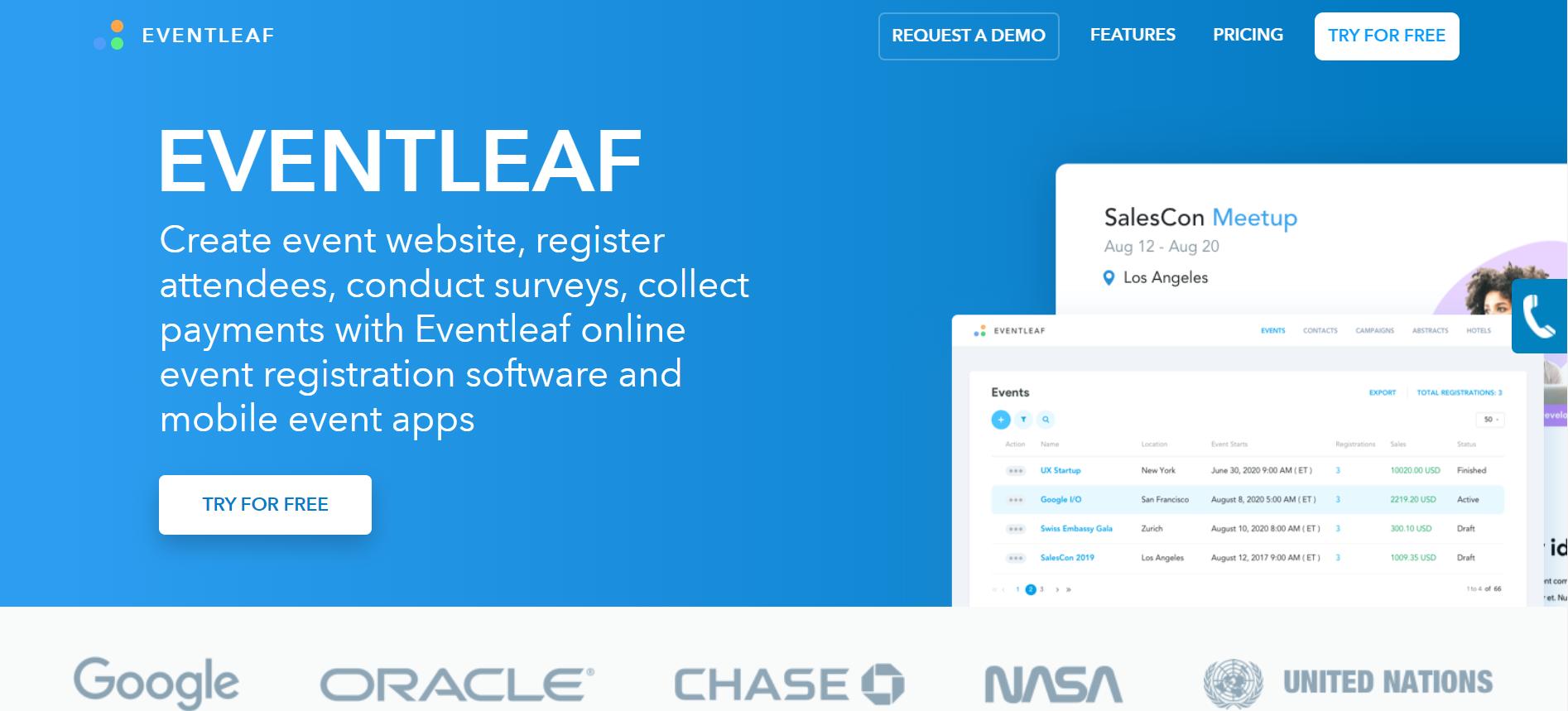 Review Eventleaf: Event registration management software - Appvizer